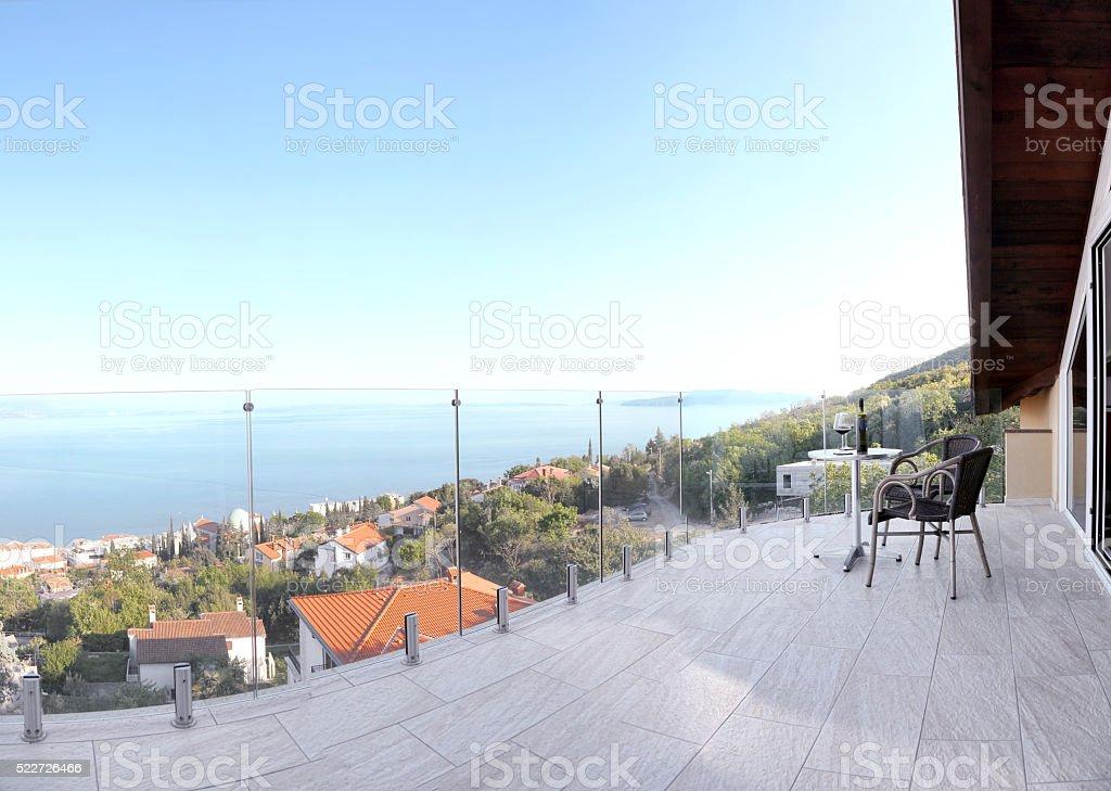 Beautiful balcony stock photo