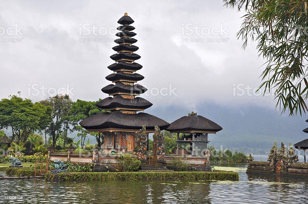 Beautiful Balinese Pura Ulun Danu temple on lake Bratan. royalty-free stock photo