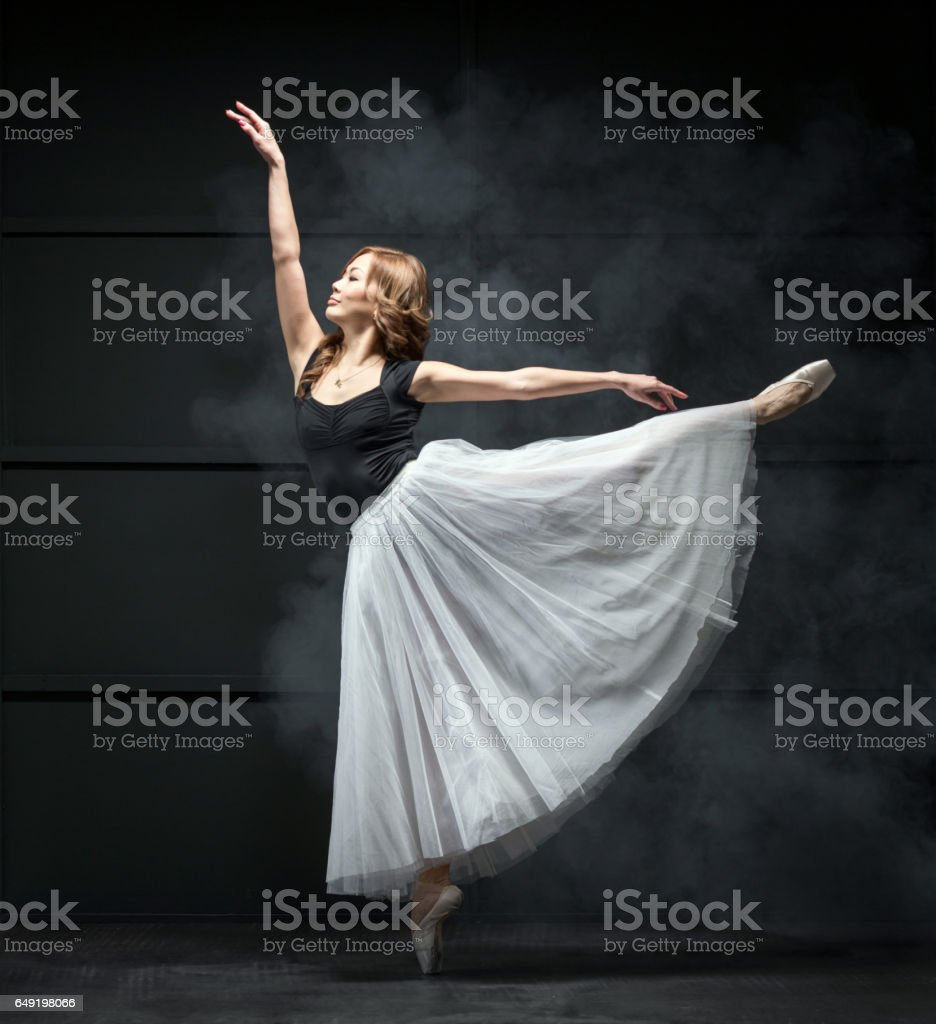 Beautiful Ballerina In Ballet Dance Pose Stock Photo Download Image Now Istock