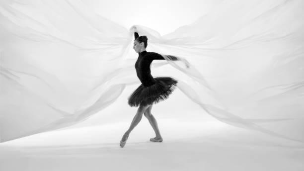 beautiful ballerina is dancing in dream world - ballet dancer stock photos and pictures