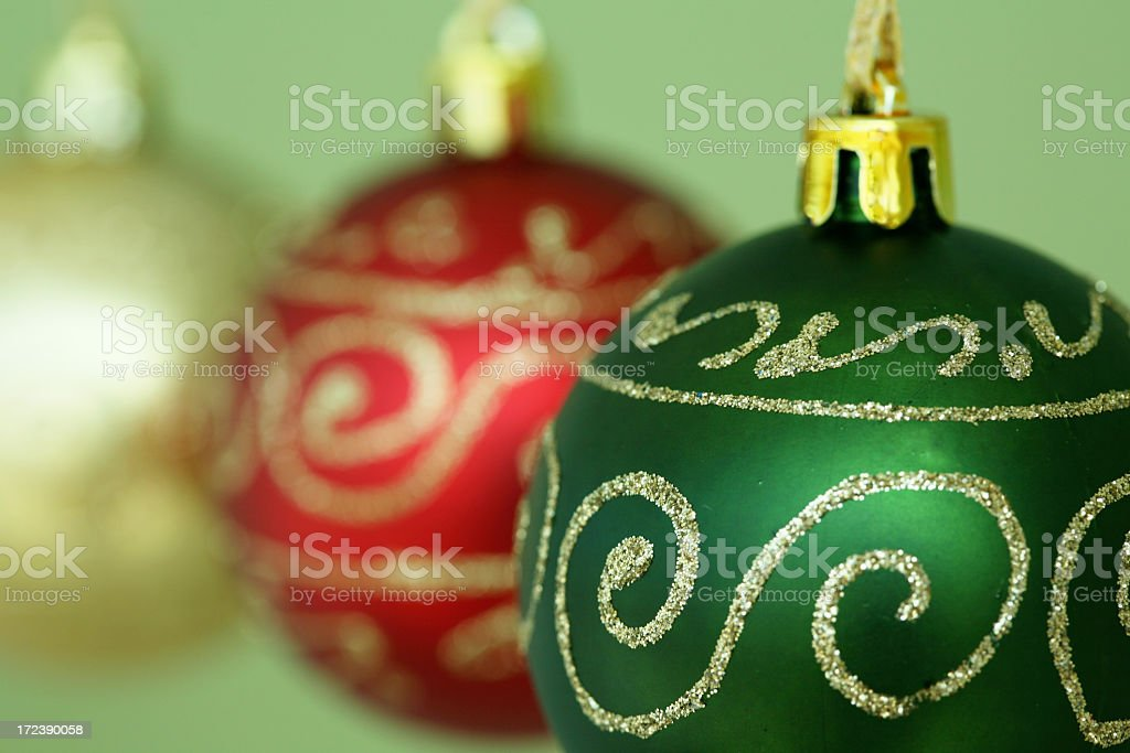 Beautiful balls for Christmas royalty-free stock photo