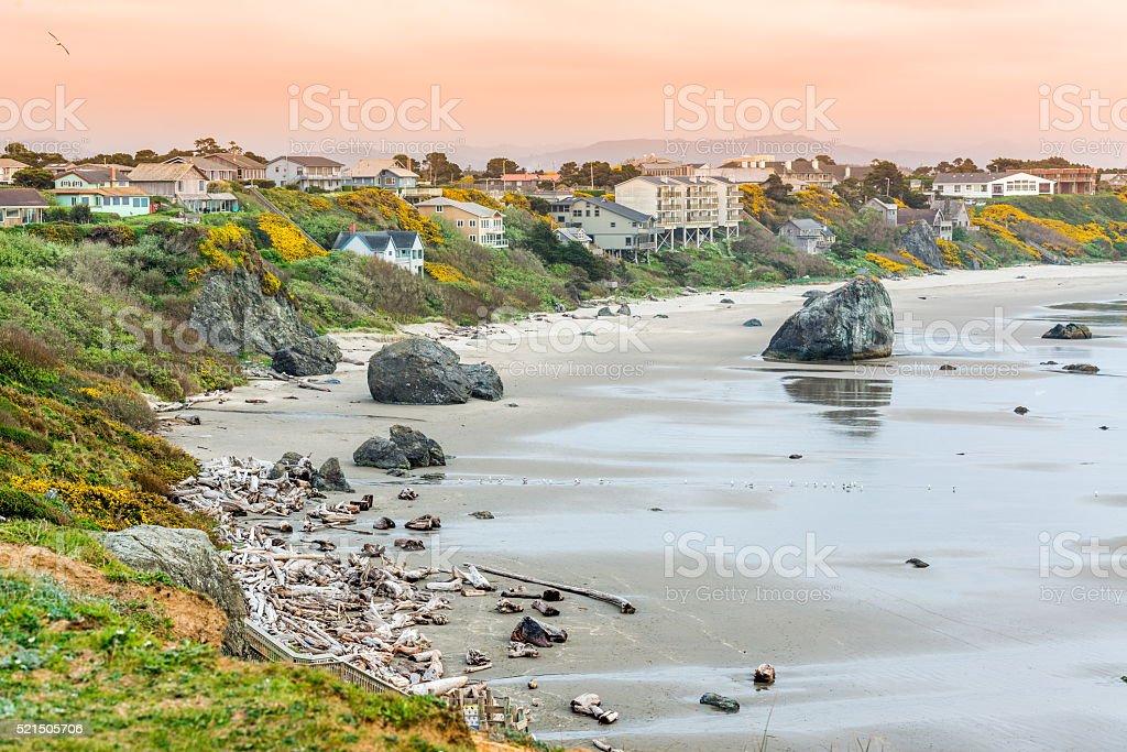 Beautiful Bandon Beach, Oregon stock photo