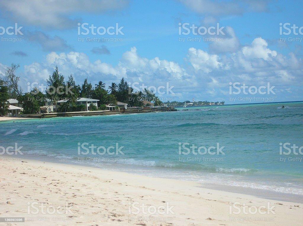 Beautiful Barbados Beach royalty-free stock photo