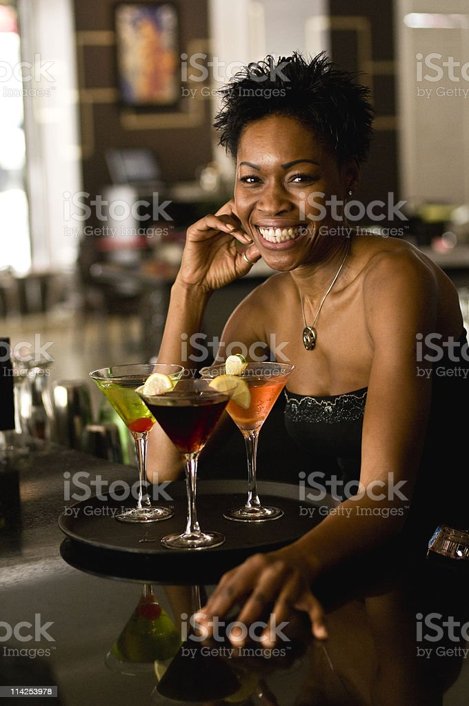 Beautiful Bartender royalty-free stock photo