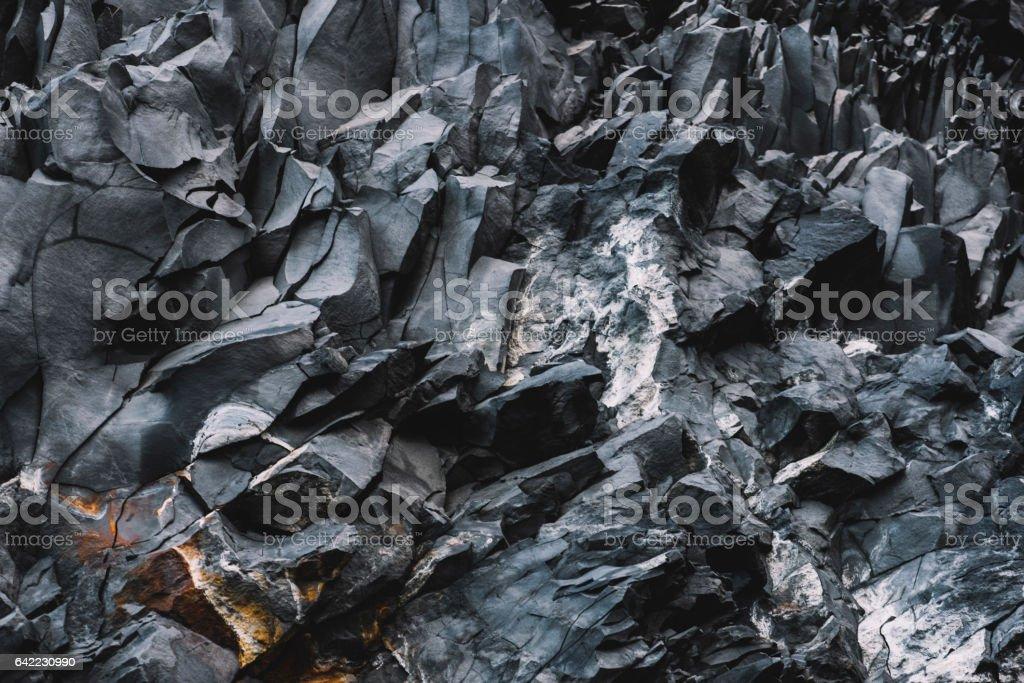 Beautiful basalt texture, Iceland stock photo