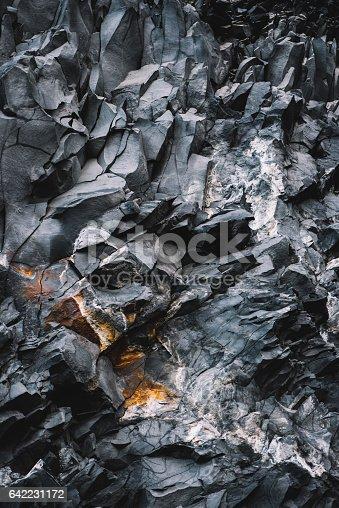 istock Beautiful basalt texture, Iceland 642231172