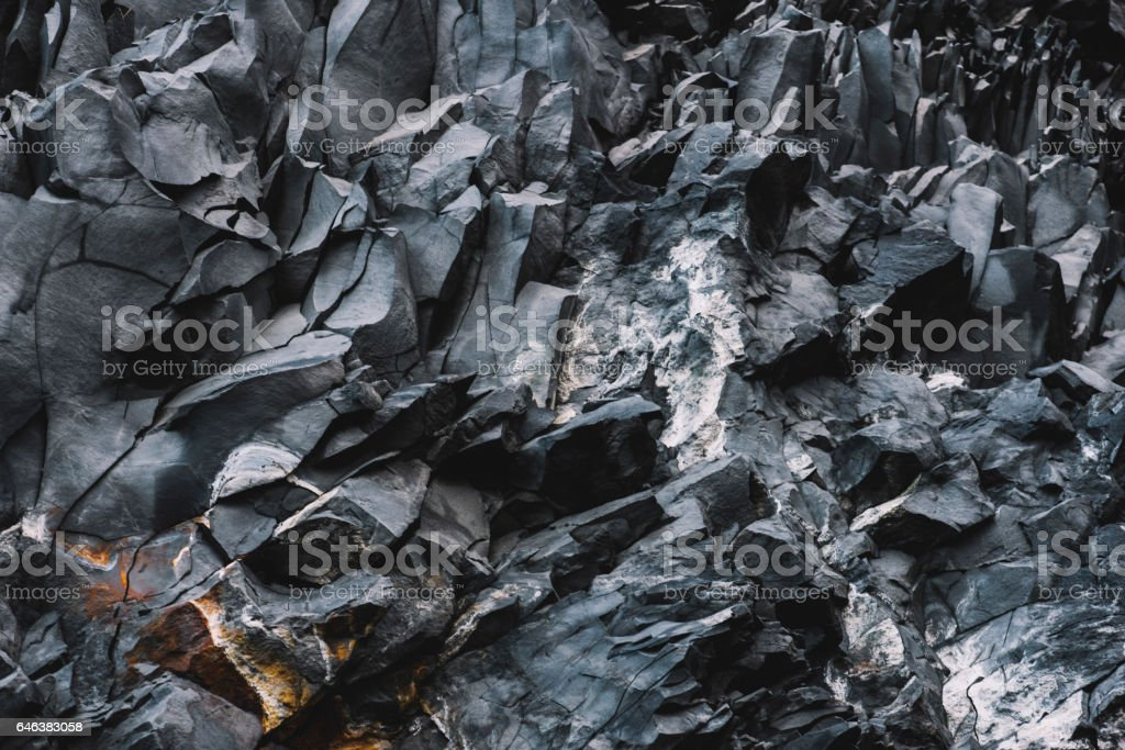 Beautiful basalt texture, Iceland stock photo