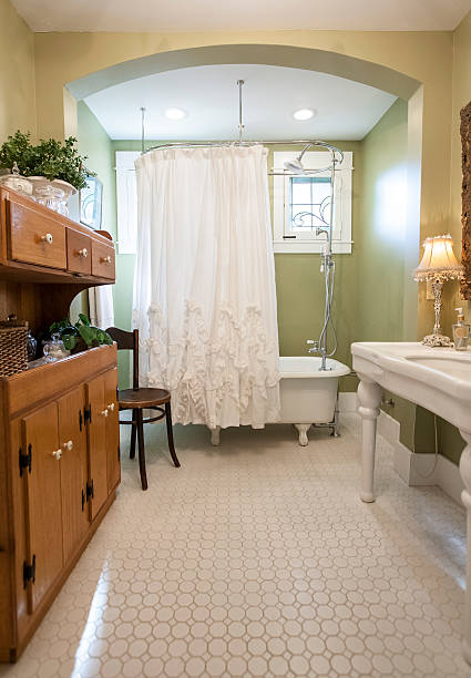 schöne badezimmer - badezimmer rustikal stock-fotos und bilder