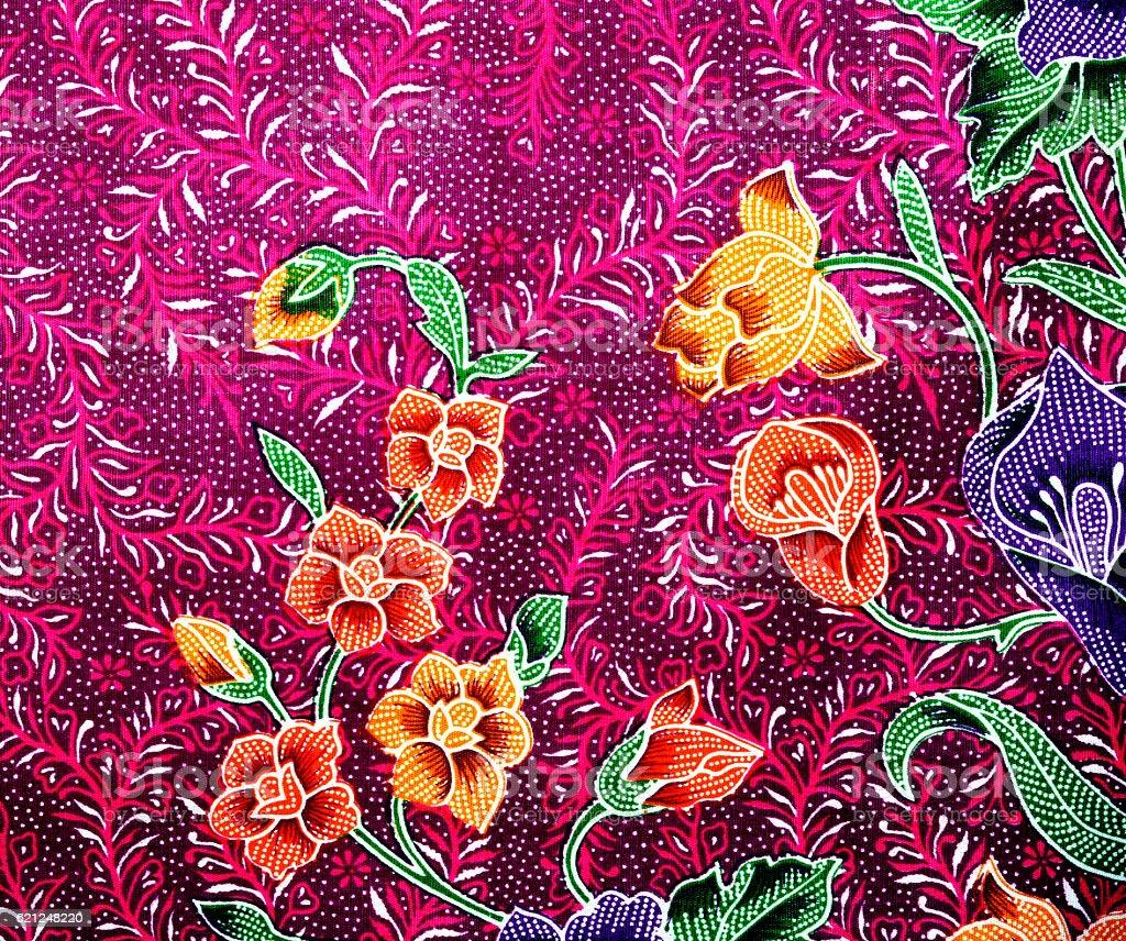 Beautiful Batik Patterns Stock Photo
