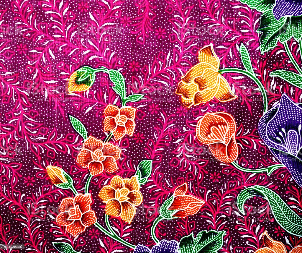 Beautiful batik patterns stock photo