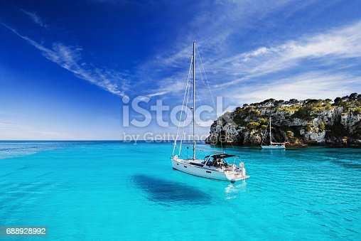 istock Beautiful bay in Mediterranean sea 688928992