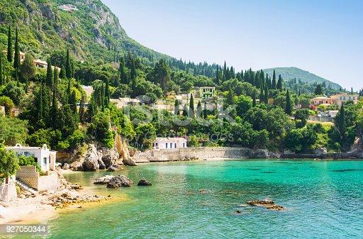 Amazing view on Corfu island in Greece