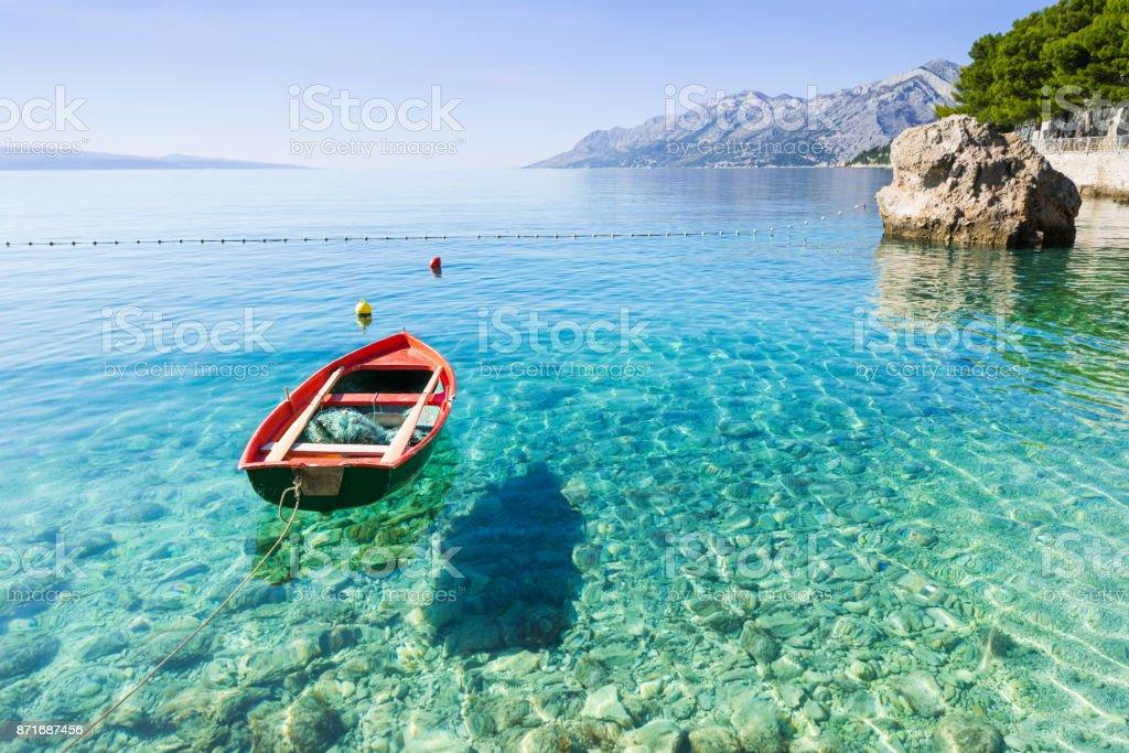 Beautiful bay in the Mediterranean sea stock photo