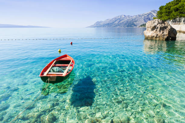 beautiful bay in the mediterranean sea - rocky coastline stock pictures, royalty-free photos & images