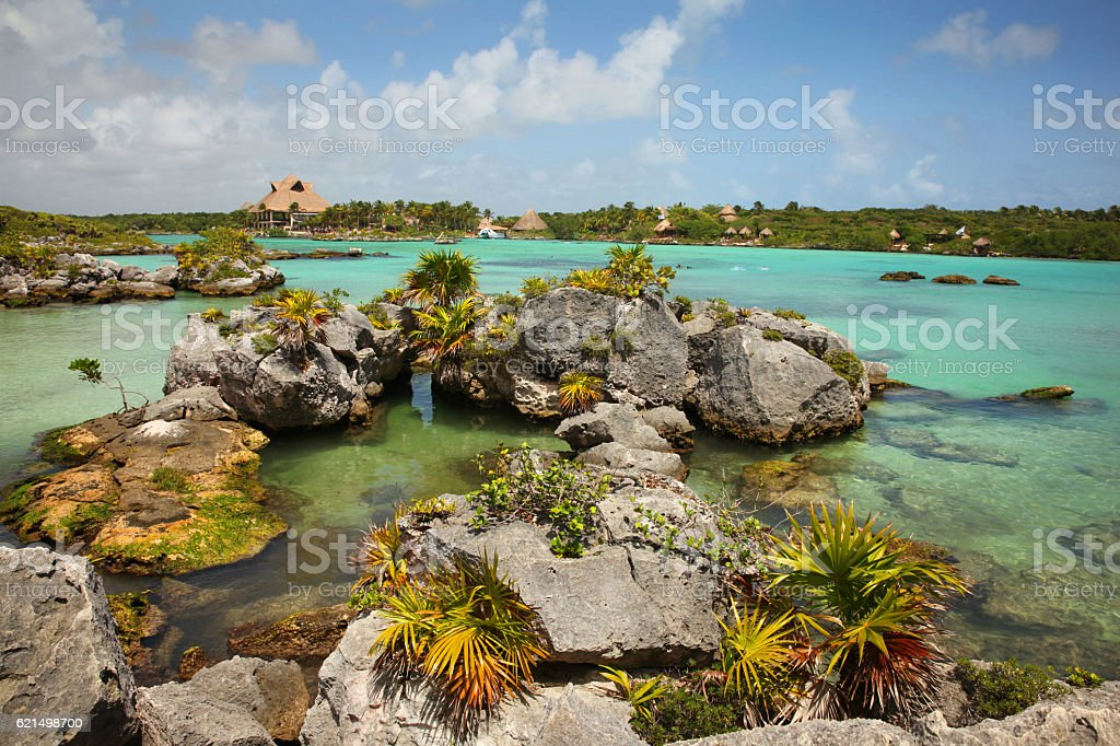 Beautiful bay of Xel Ha, Cancun, Mexico foto stock royalty-free