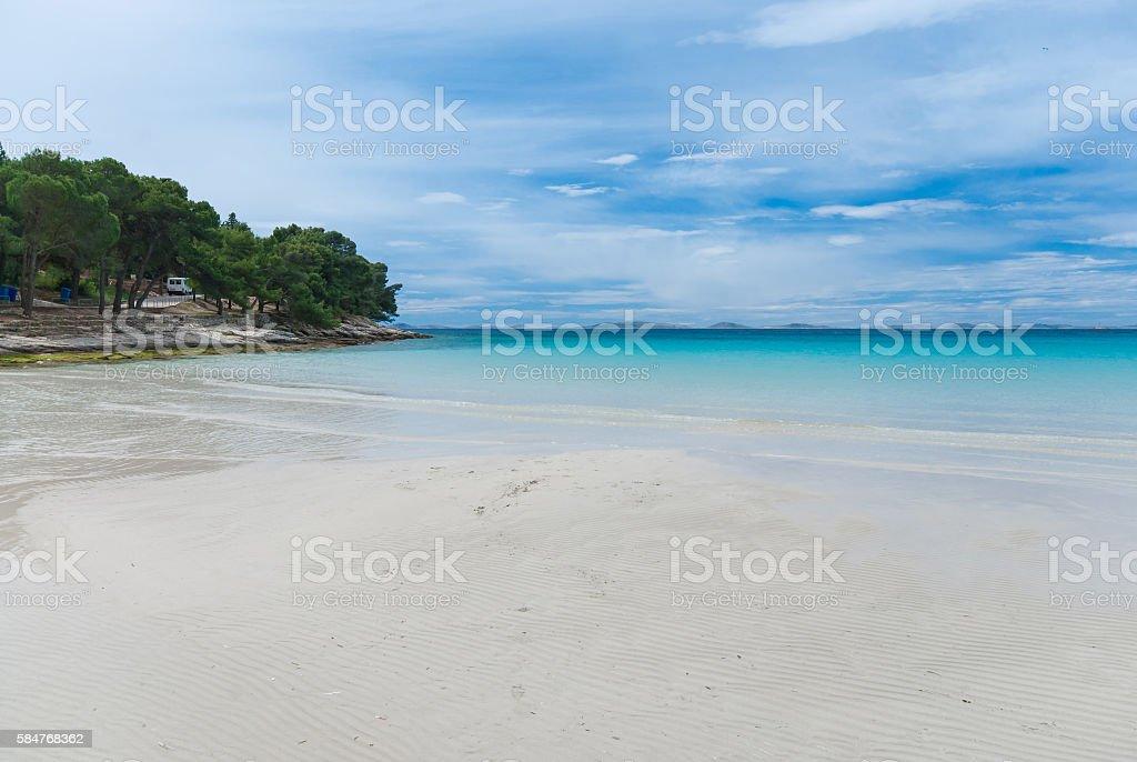 beautiful bay Slanica on Murter Island, Dalmatia, Croatia stock photo