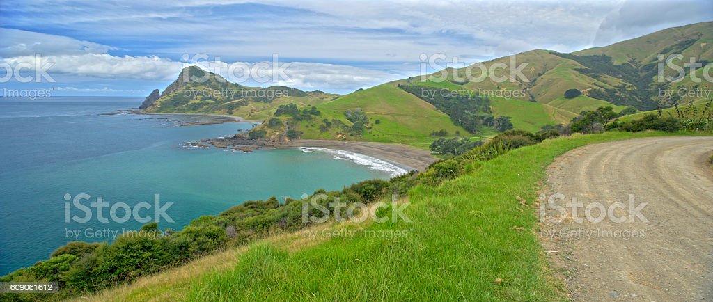 Beautiful bays, Coromandel Peninsula stock photo