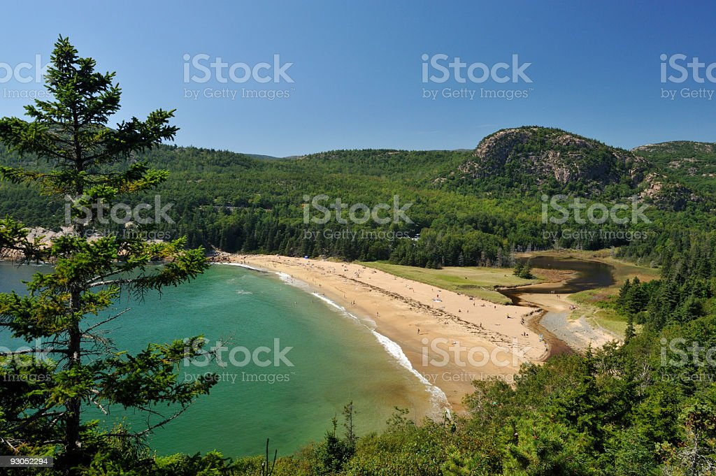Beautiful beach, Acadia National Park stock photo
