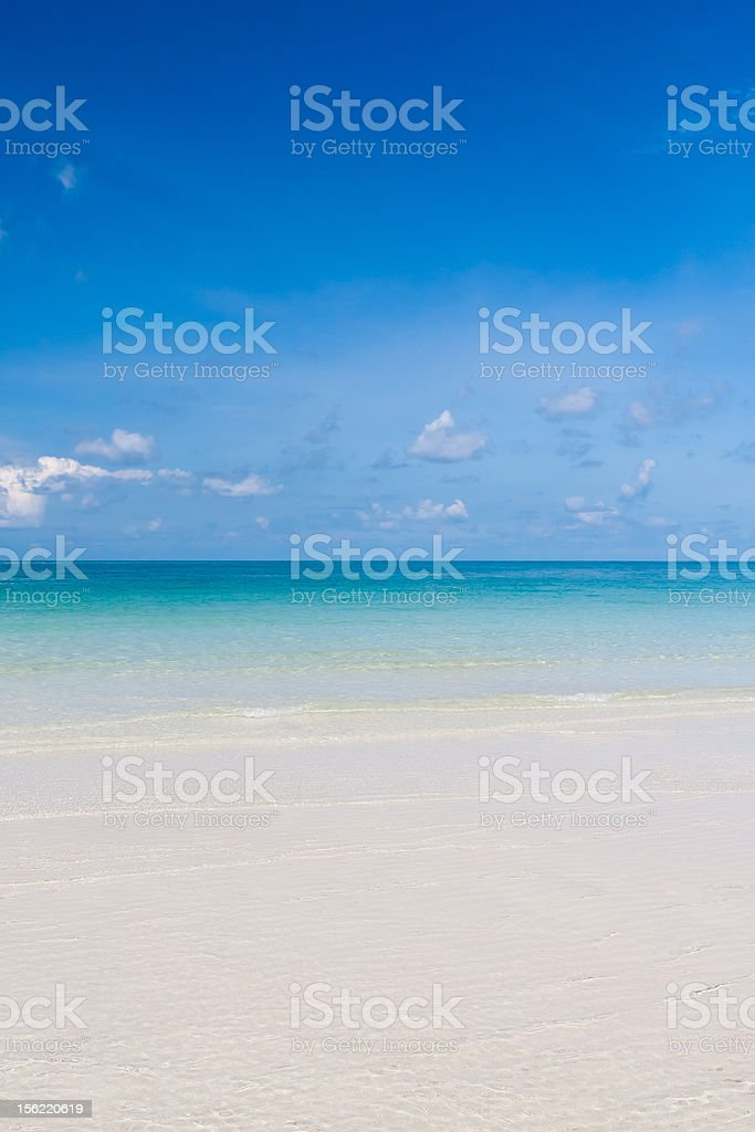 Beautiful beach and blue sky in thailand vertical royalty-free stock photo