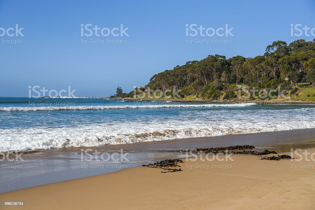 Beautiful beach and sea at Lorne beach foto royalty-free