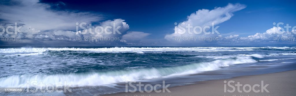A beautiful beach and Seaview of Monterey Bay royalty-free stock photo