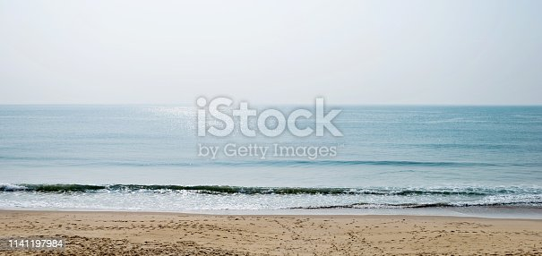 Beautiful beach and sky background.