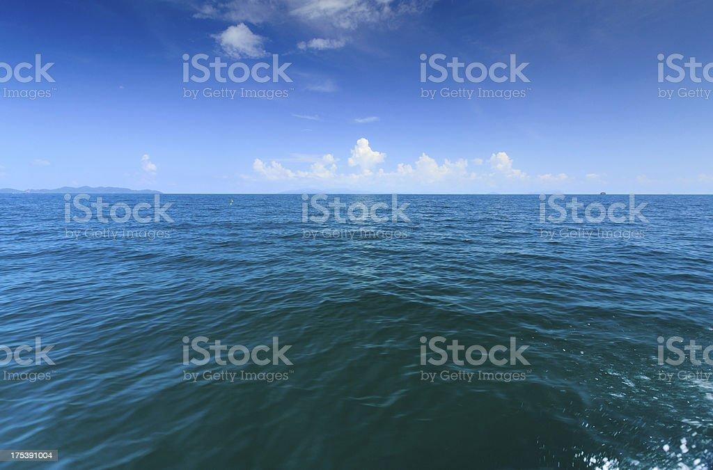 Beautiful beach and tropical sea royalty-free stock photo