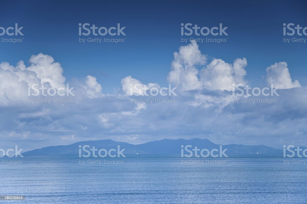 Beautiful beach and tropical sea royalty-free stock photo