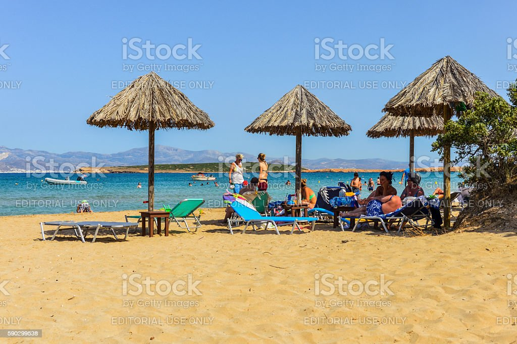 Beautiful beach and tropical water - Paros, Greece Стоковые фото Стоковая фотография