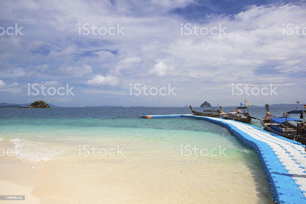 Beautiful beach at Koh Kai Nai island royalty-free stock photo