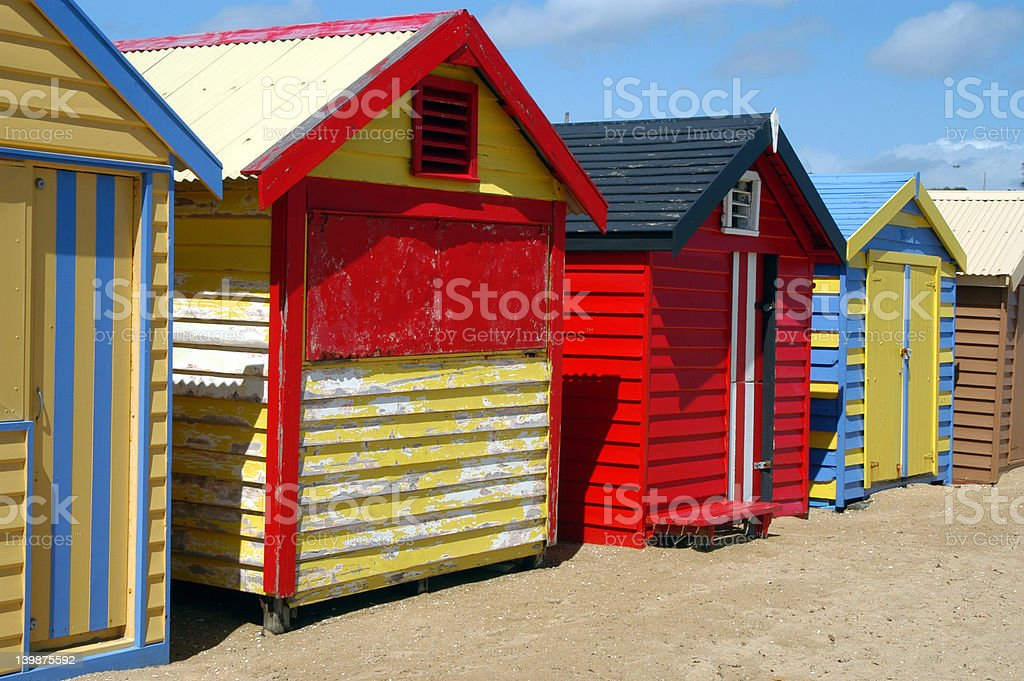 Beautiful Beach Houses royalty-free stock photo
