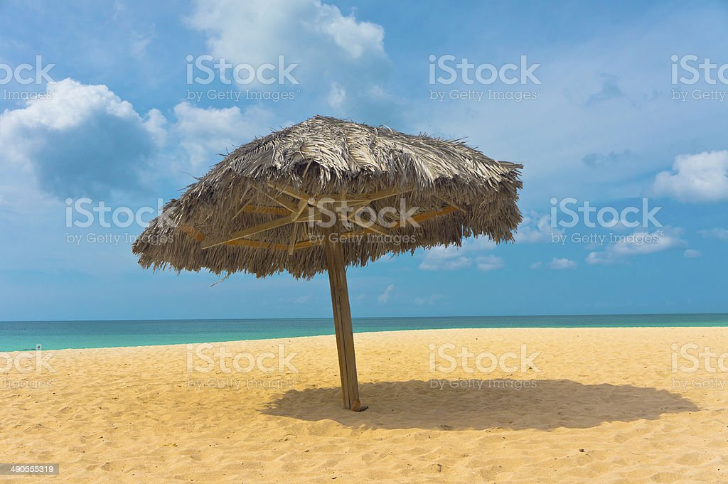 Beautiful beach in Aruba, Caribbean Islands, Lesser Antilles stock photo