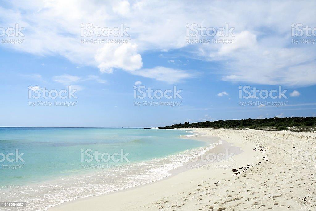 Beautiful beach in Cancun, Mexico stock photo