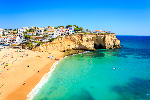 Beautiful beach in Carvoeiro, Algarve, Portugal