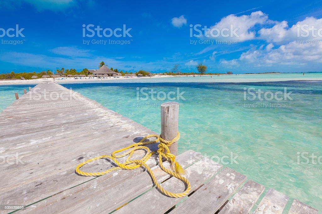 beautiful beach in Cayo Largo del Sur, Cuba stock photo