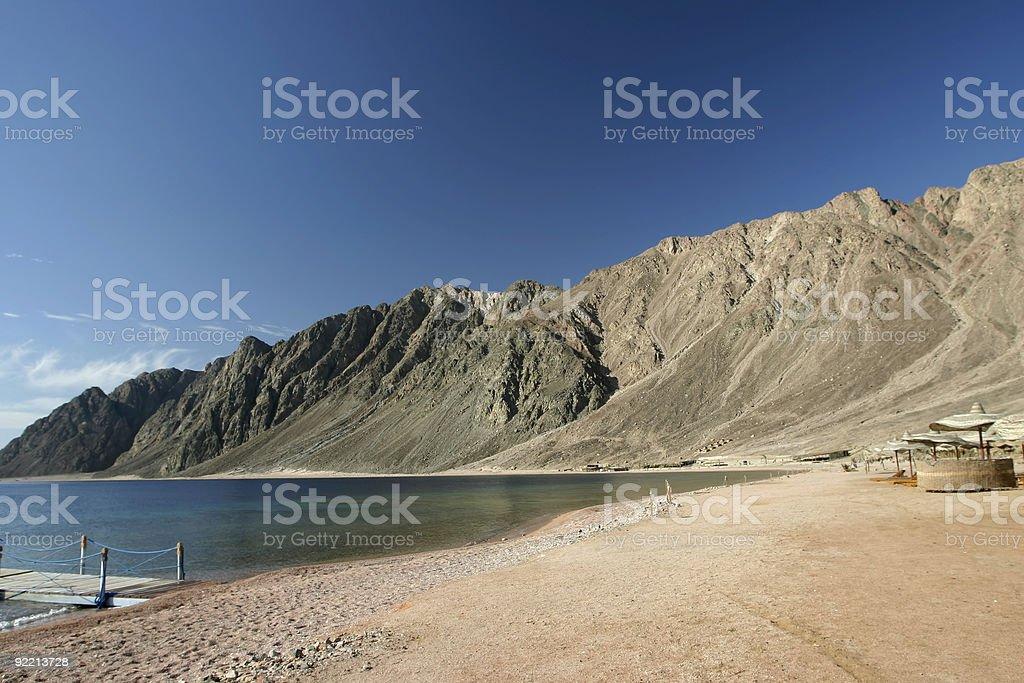Beautiful beach in Dahab, Egypt stock photo
