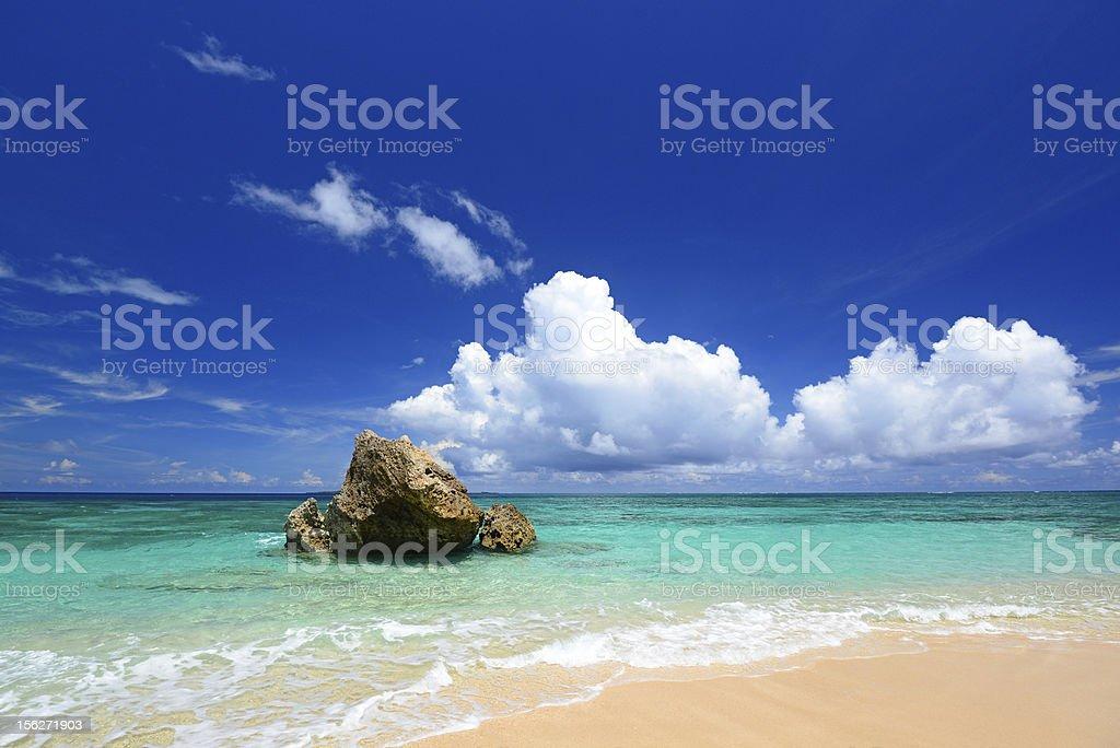 Beautiful beach in Okinawa royalty-free stock photo