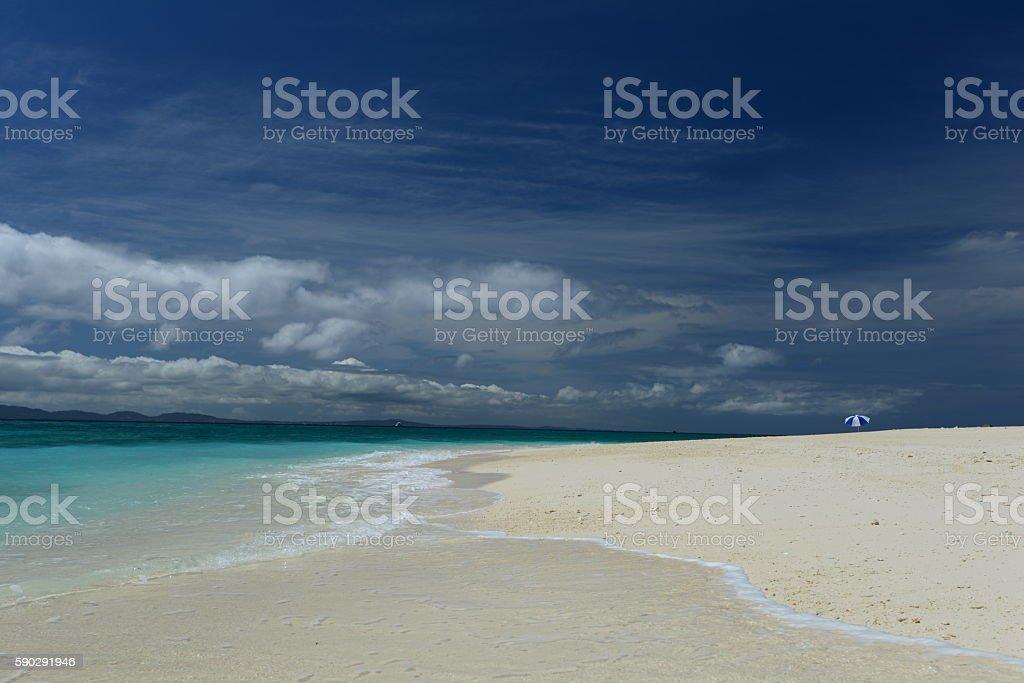 Beautiful beach in Okinawa royaltyfri bildbanksbilder
