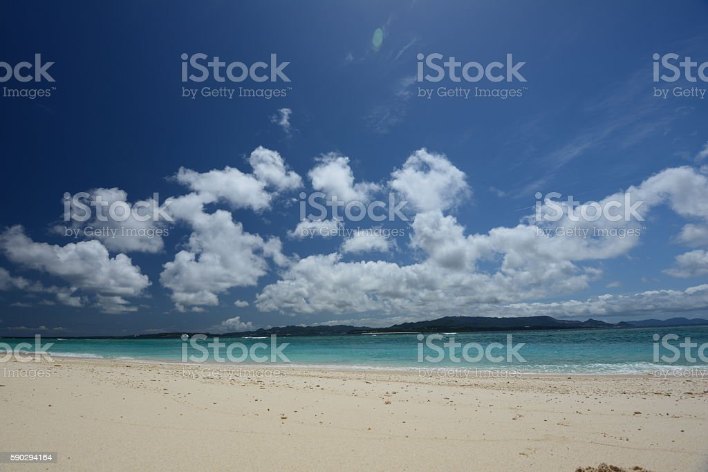 Beautiful beach in Okinawa royaltyfri bildbanksbilder