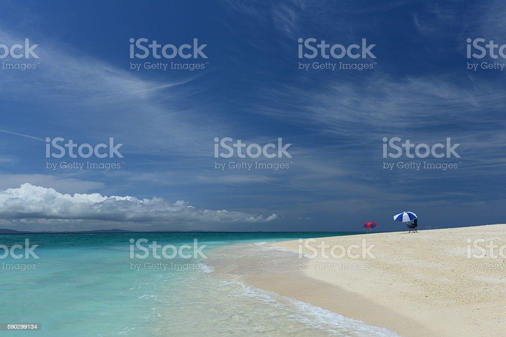 Красивый пляж в Окинаве Стоковые фото Стоковая фотография