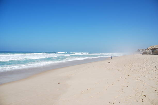 Beautiful beach in Praia del Rey stock photo
