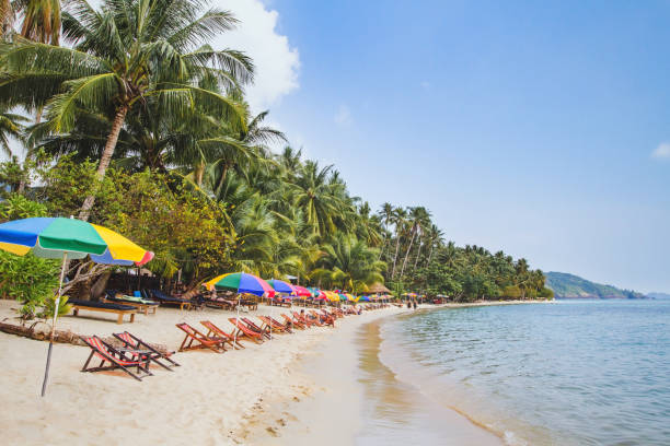 beautiful beach in Thailand beautiful beach in Thailand, sea and white sand koh chang stock pictures, royalty-free photos & images