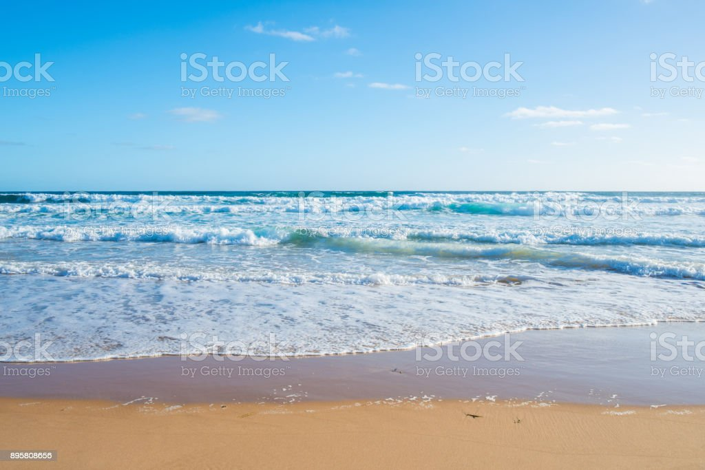 Beautiful beach in the coastal of Phillip Island, Victoria state of Australia. stock photo