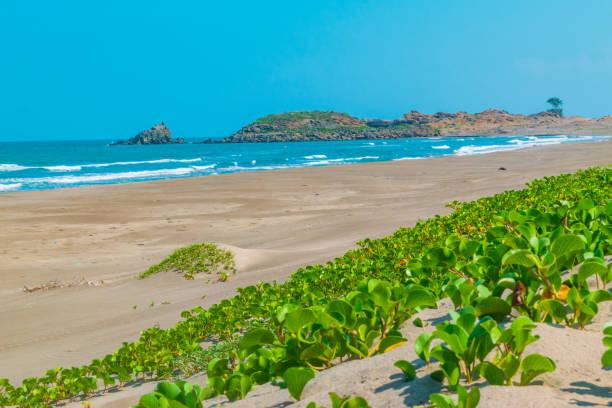 Beautiful beach in Veracruz stock photo