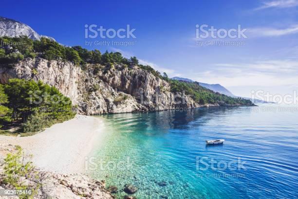 Photo of Beautiful beach, Mediterranean sea, Makarska riviera, Croatia