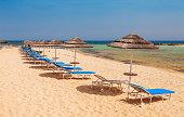 Beautiful beach near of Nissi and Cavo Greco in Ayia Napa, Cyprus island, Mediterranean Sea.