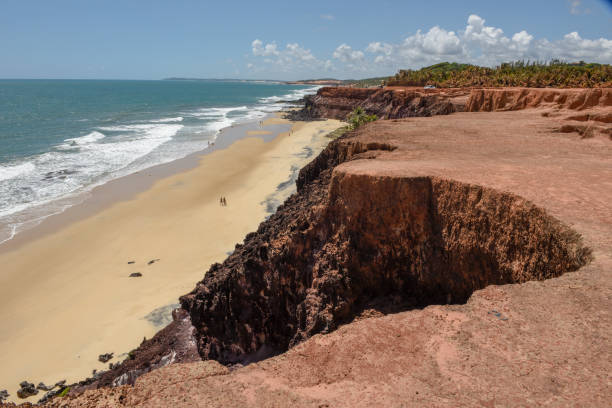 Beautiful beach of Praia do Amor near Pipa, Brazil stock photo