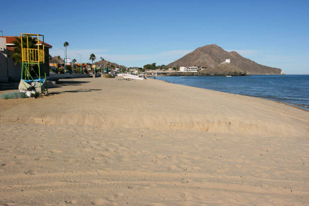 Beautiful beach of San Felipe, Baja California Norte, Mexico stock photo