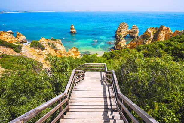 Schöner Strand an der Algarve-Küste, Portugal – Foto