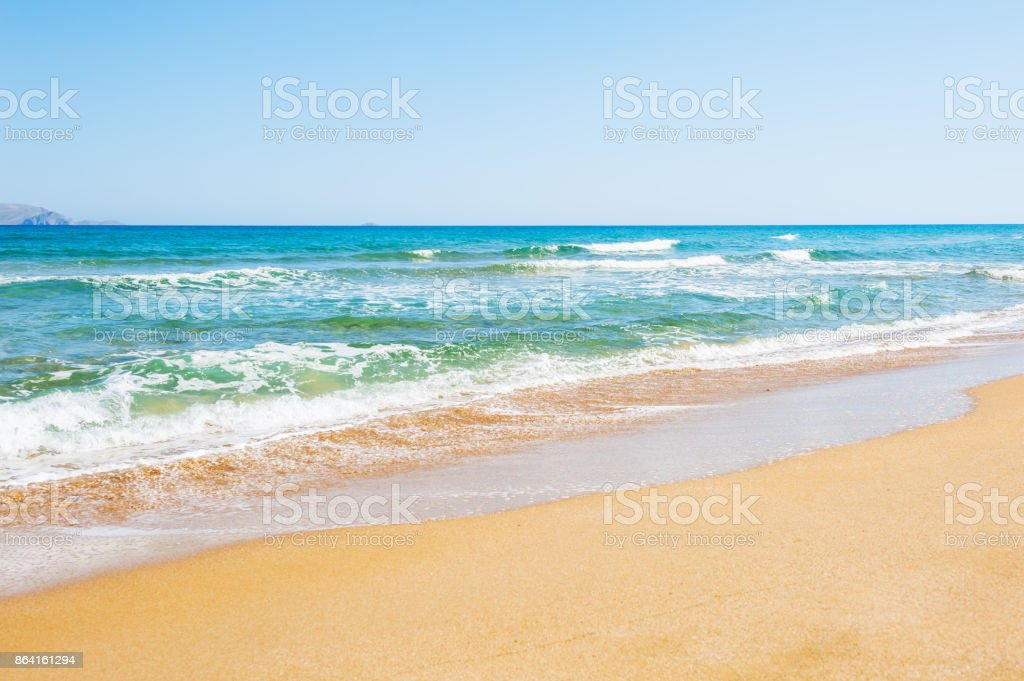 Beautiful beach on Crete island, Greece royalty-free stock photo